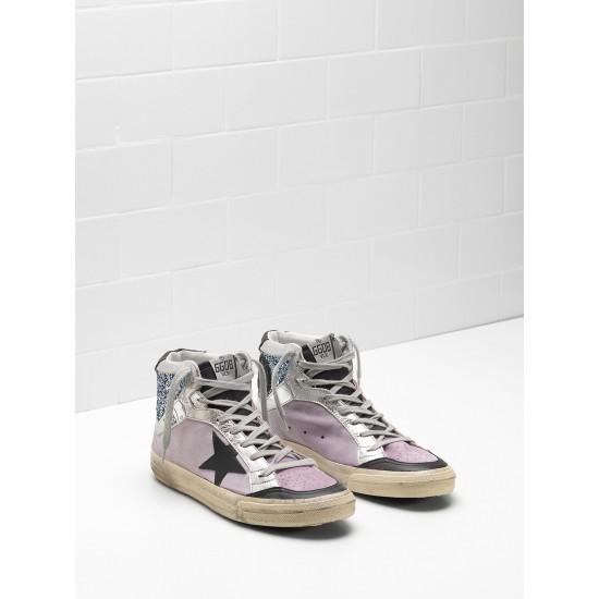 Men/Women Golden Goose 2.12 Calf Suede Upper Star In Leather sneaker