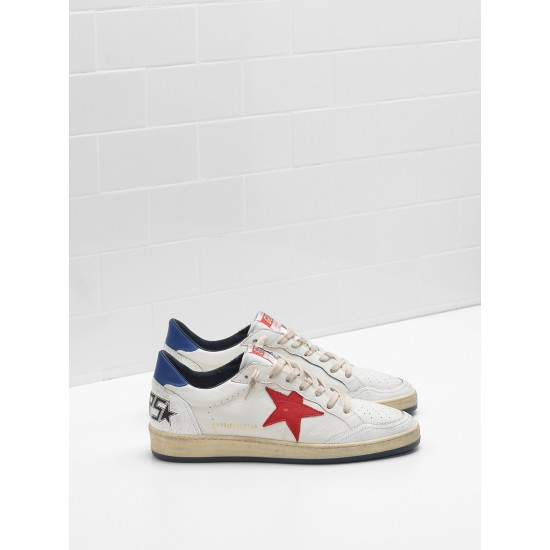 Men/Women Golden Goose ball star in calf leather in leather slight sneaker