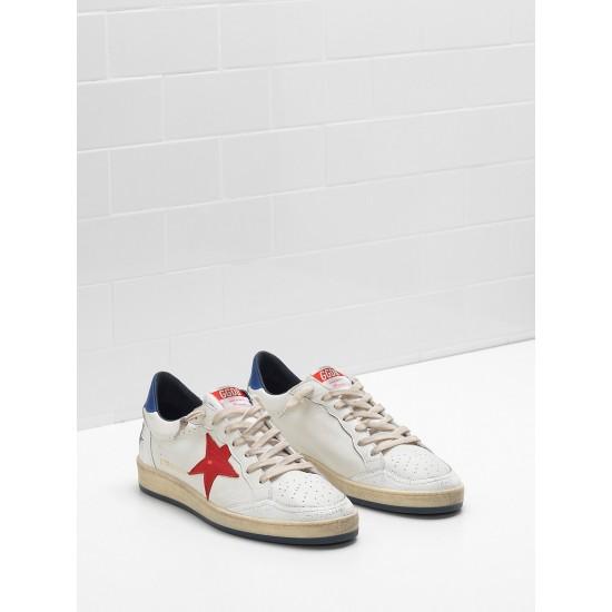 Men/Women Golden Goose ball star in calf leather in leather slight sneaker