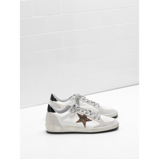 Men/Women Golden Goose ball star in calf leather star heel glossy sneaker