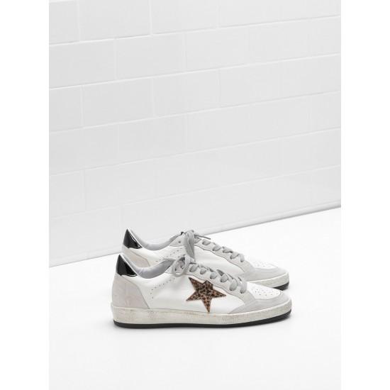 Men/Women Golden Goose ball star in calf leather star heel glossy sneaker