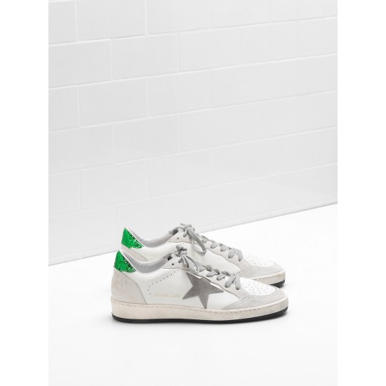 Men/Women Golden Goose ball star in calf leather suede star glittery sneaker