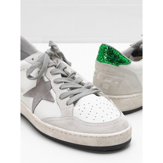 Men/Women Golden Goose ball star in calf leather suede star glittery sneaker