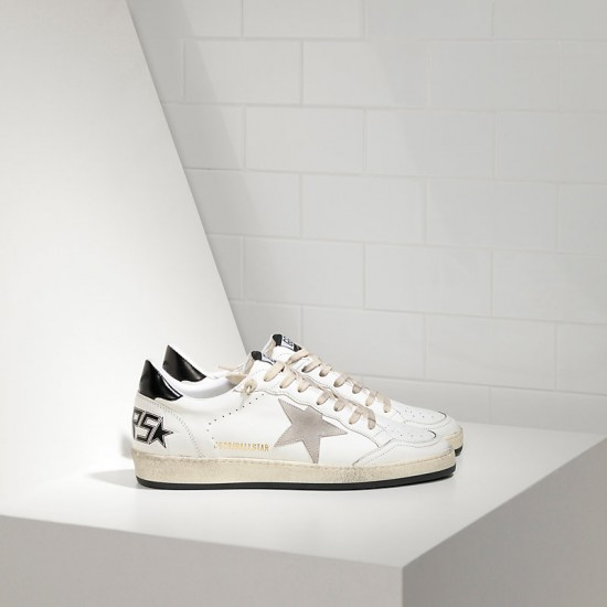 Men/Women Golden Goose ball star in white ice star sneaker