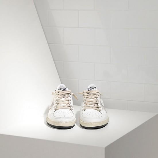 Men/Women Golden Goose ball star in white ice star sneaker