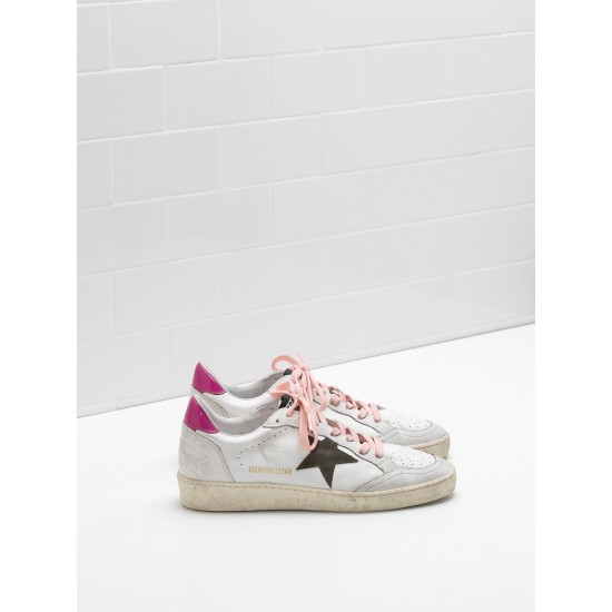Women Golden Goose ball star in calf leather suede star leather sneaker