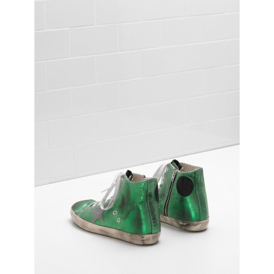 Men/Women Golden Goose francy canvas star in laminated leather sneaker