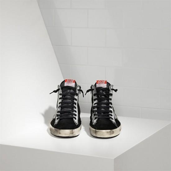 Men/Women Golden Goose francy leather star black suede strawber sneaker