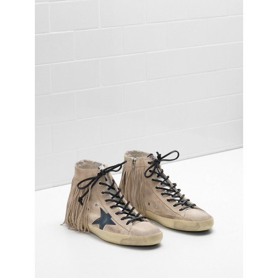 Men/Women Golden Goose francy suede star and tongue in leather sneaker