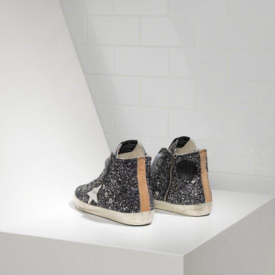 Men/Women Golden Goose francy all over glitter in pelle grey glitter sneaker