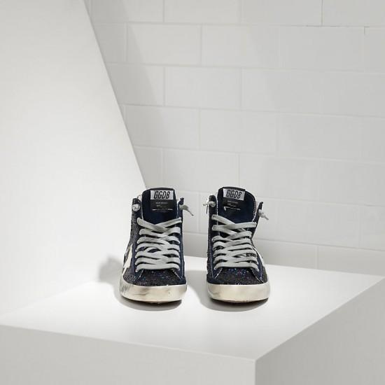 Men/Women Golden Goose francy fabric glitter leather star sneaker