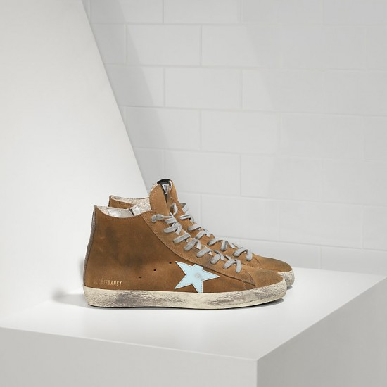 Men/Women Golden Goose francy in camoscio in pelle olive suede sneaker