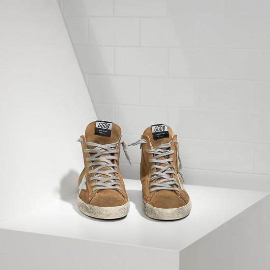 Men/Women Golden Goose francy in camoscio in pelle olive suede sneaker