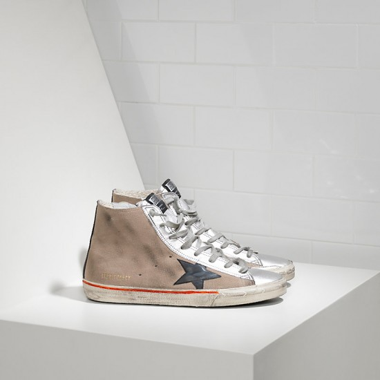 Men/Women Golden Goose francy in camoscio in pelle skin silver sneaker