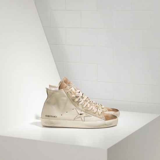 Men/Women Golden Goose francy in chestnut golden star logo sneaker