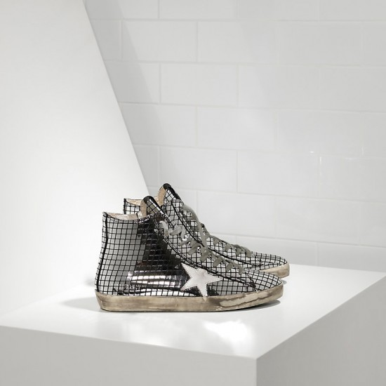 Men/Women Golden Goose francy in glitter Silver sneaker