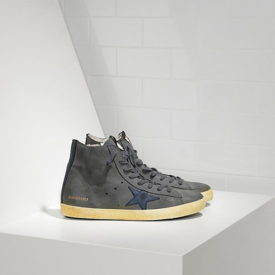 Men/Women Golden Goose francy in nabuk dark grey sneaker