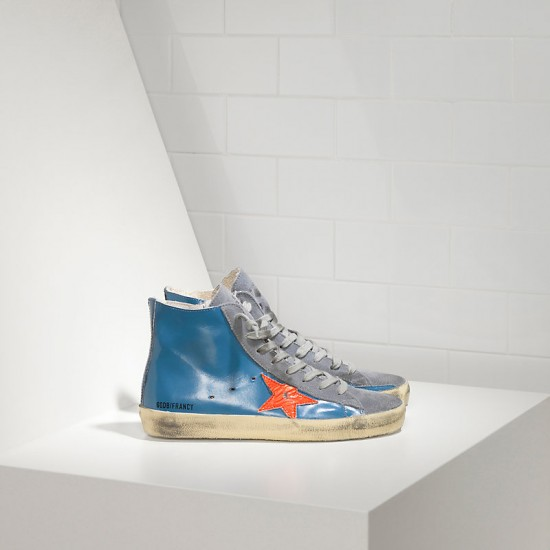 Men/Women Golden Goose francy sky red fluo star sneaker