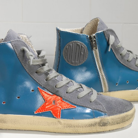 Men/Women Golden Goose francy sky red fluo star sneaker