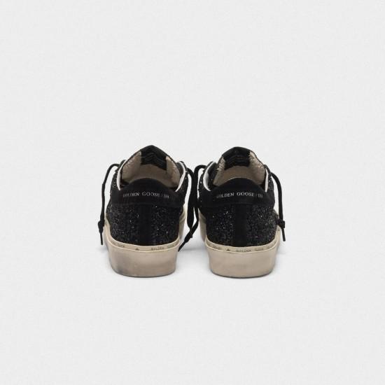 Men/Women Golden Goose hi star black glitter shiny Black star Logo sneaker