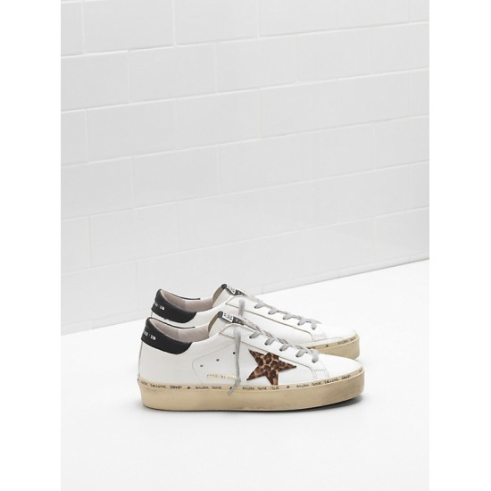 Men/Women Golden Goose hi star ponyskin effect leather star sneaker