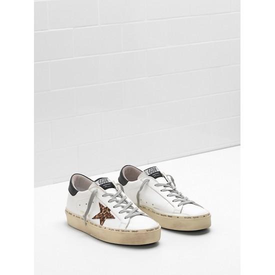 Men/Women Golden Goose hi star ponyskin effect leather star sneaker