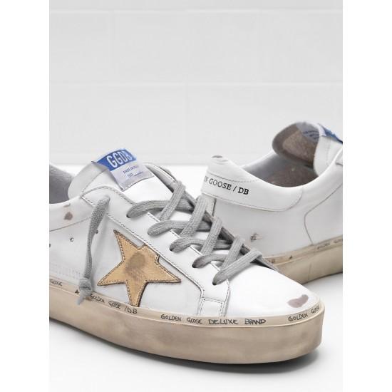 Men/Women Golden Goose hi star slight vintage treatment star in white sneaker