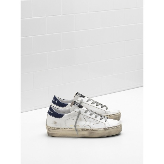 Men/Women Golden Goose hi star slight vintage treatment heel glossy sneaker
