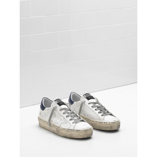 Men/Women Golden Goose hi star slight vintage treatment heel glossy sneaker