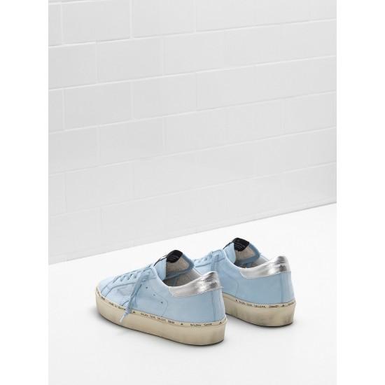 Women Golden Goose hi star ciel nabuk leather real silver sneaker