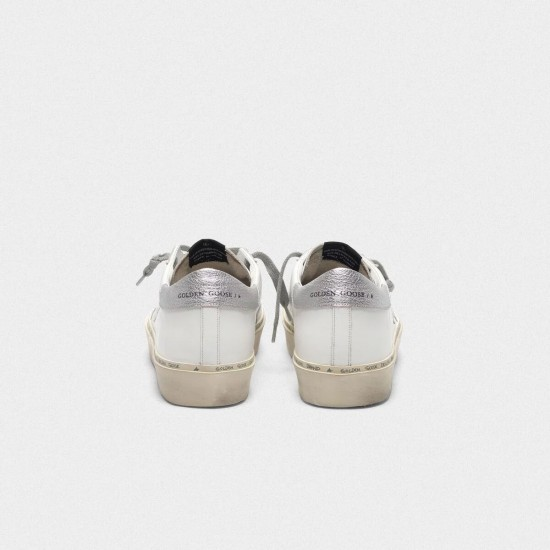 Women Golden Goose hi star with iridescent star and silver sneaker