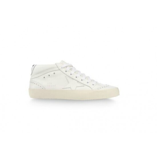 Men/Women Golden Goose mid star in all white sneaker