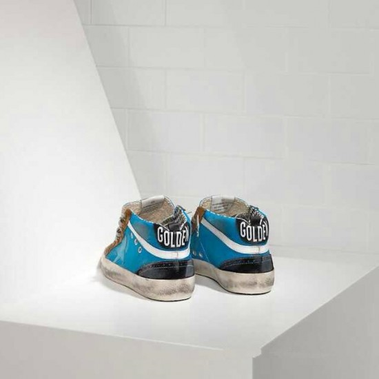 Men/Women Golden Goose mid star in blue brown sneaker