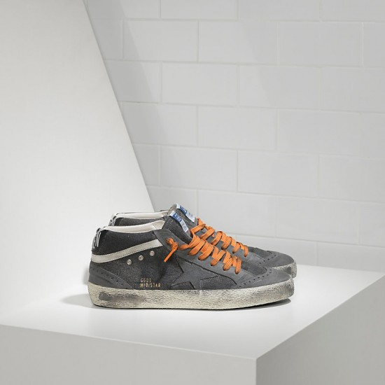 Men/Women Golden Goose mid star in canvas denim destroyed sneaker