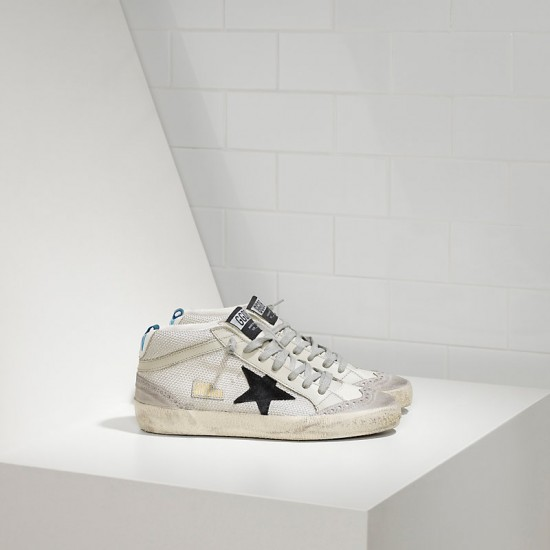 Men/Women Golden Goose mid star in tessuto tecnico e stella in Grey sneaker