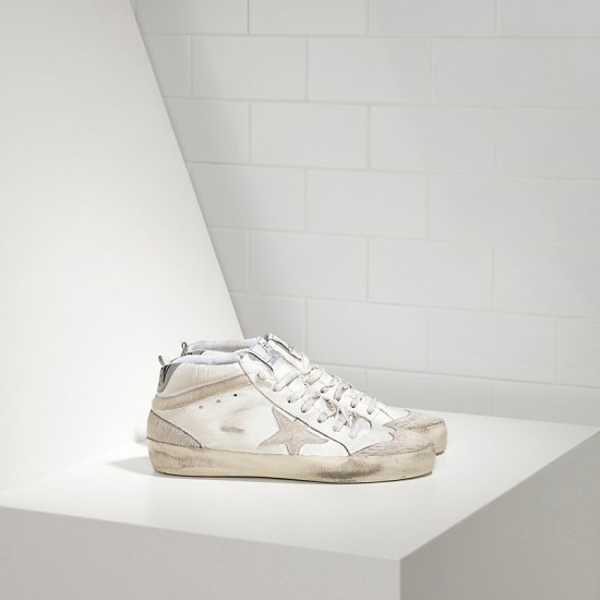 Men/Women Golden Goose mid star limited edition leather and star sneaker