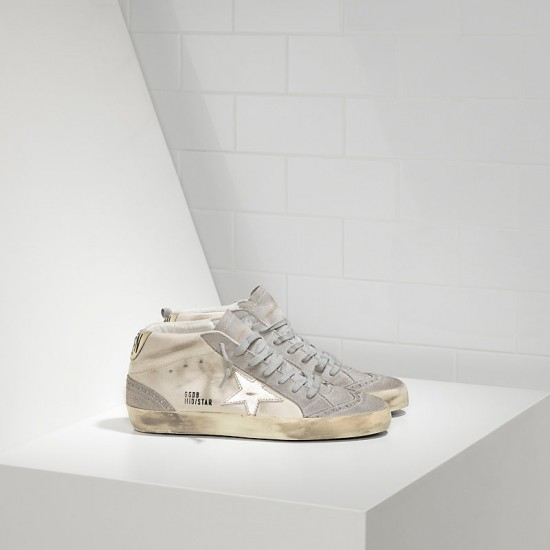 Men/Women Golden Goose mid star white gold star sneaker