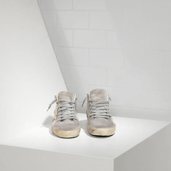 Men/Women Golden Goose mid star white gold star sneaker