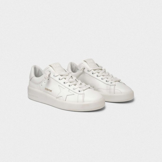 Men/Women Golden Goose purestar in full white sneaker