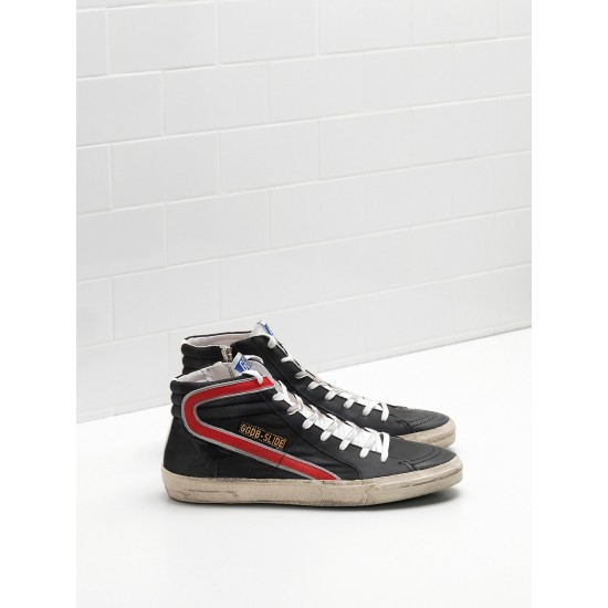 Men/Women Golden Goose slide in balck red sneaker