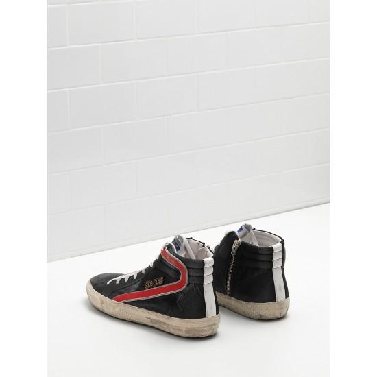 Men/Women Golden Goose slide in balck red sneaker