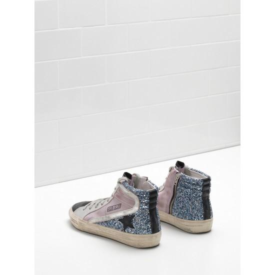 Men/Women Golden Goose slide in pink blue black sneaker
