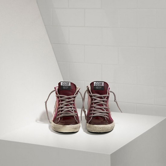 Men/Women Golden Goose slide in pelle pink shades sneaker