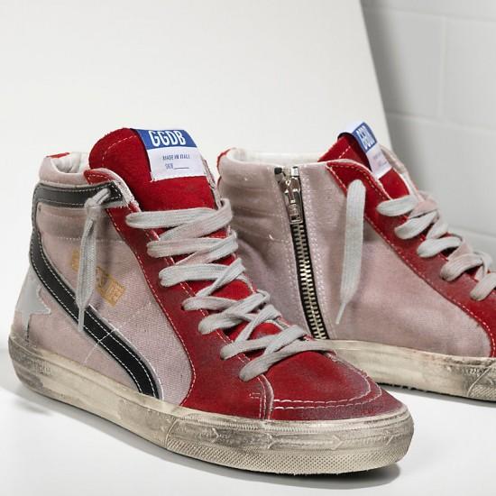 Men/Women Golden Goose slide in pelle red suede silver star sneaker