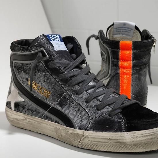 Men/Women Golden Goose slide in pelle savage black suede sneaker