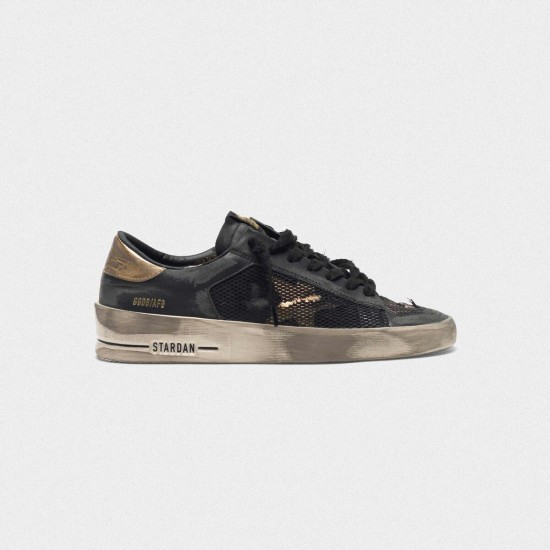 Men/Women Golden Goose distressed black and gold stardan ltd sneaker
