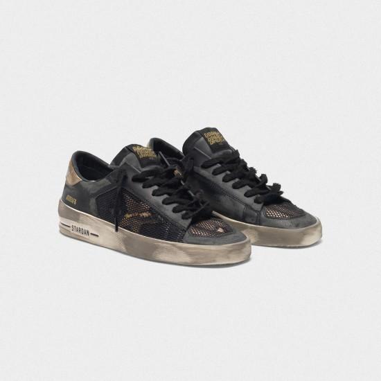 Men/Women Golden Goose distressed black and gold stardan ltd sneaker