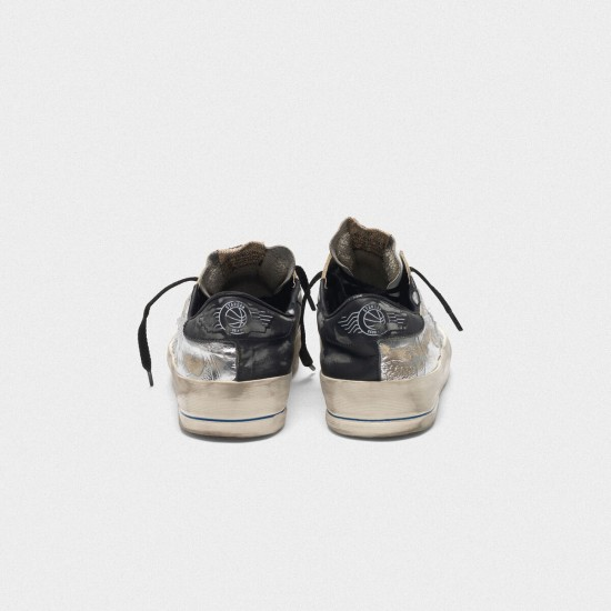 Men/Women Golden Goose stardan ltd laminated silver with floral design sneaker