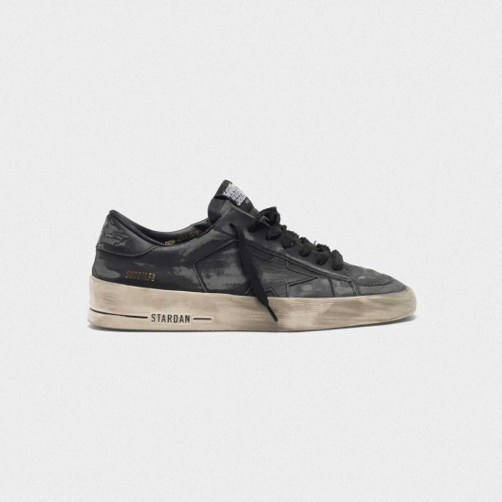 Men/Women Golden Goose stardan ltd in total black leather sneaker