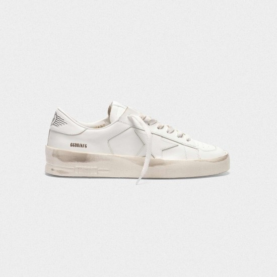 Men/Women Golden Goose stardan in total white leather sneaker